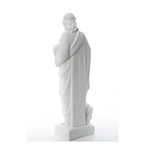 Buon Pastore con pecore, marmo sintetico 60-80 cm 3