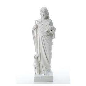 Bom Pastor com ovelhas mármore sintético 60-80 cm