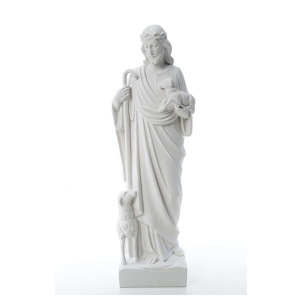Good Shepherd with sheep, statue in composite marble 60-80 cm 4