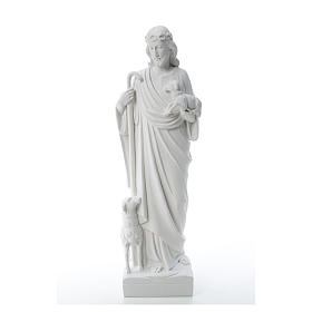 Good Shepherd with sheep, statue in reconstituted marble 60-80 cm s2
