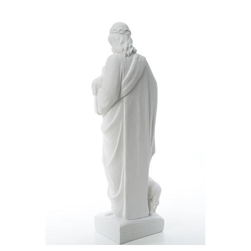 Good Shepherd with sheep, statue in reconstituted marble 60-80 cm 8