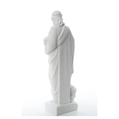 Good Shepherd with sheep, statue in composite marble 60-80 cm 3