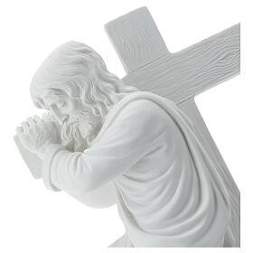 Cristo con la cruz,  40 cm mármol sintético s2