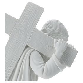 Cristo con la cruz,  40 cm mármol sintético s4