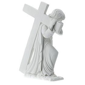 Cristo con la cruz,  40 cm mármol sintético s5