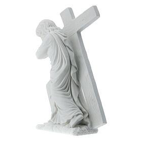 Cristo con la cruz,  40 cm mármol sintético s8