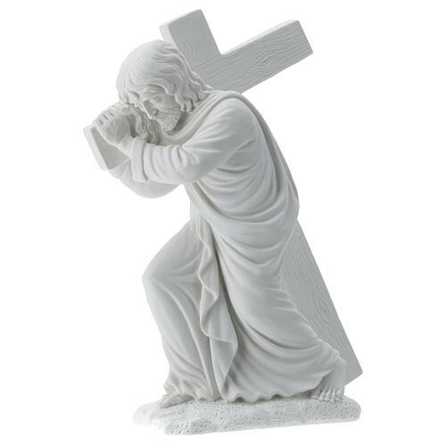 Cristo porta la croce 40 cm marmo 3