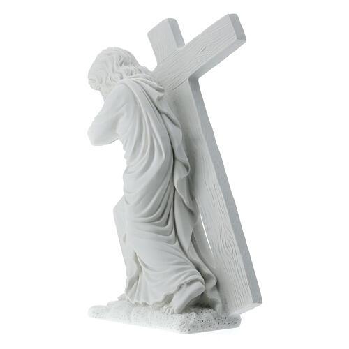 Cristo porta la croce 40 cm marmo 8