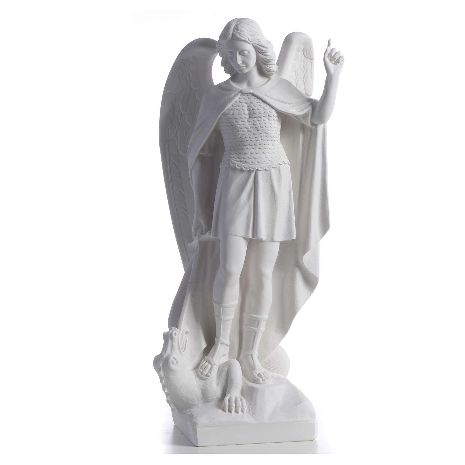 San Miguel Arcángel mármol blanco 60 cm 4