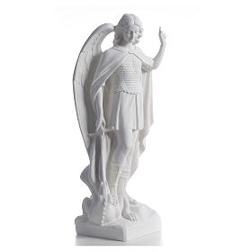 San Miguel Arcángel mármol blanco 60 cm s5