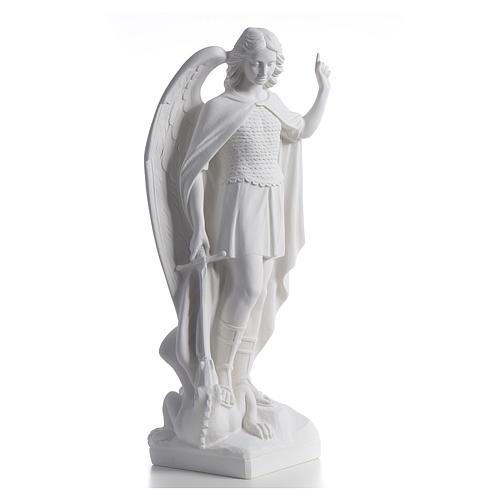 San Miguel Arcángel mármol blanco 60 cm 2
