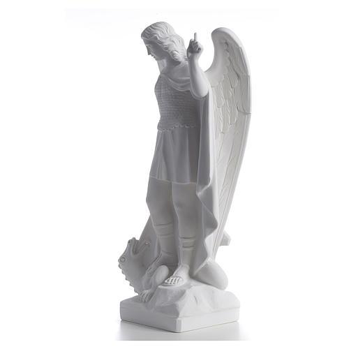 San Miguel Arcángel mármol blanco 60 cm 3