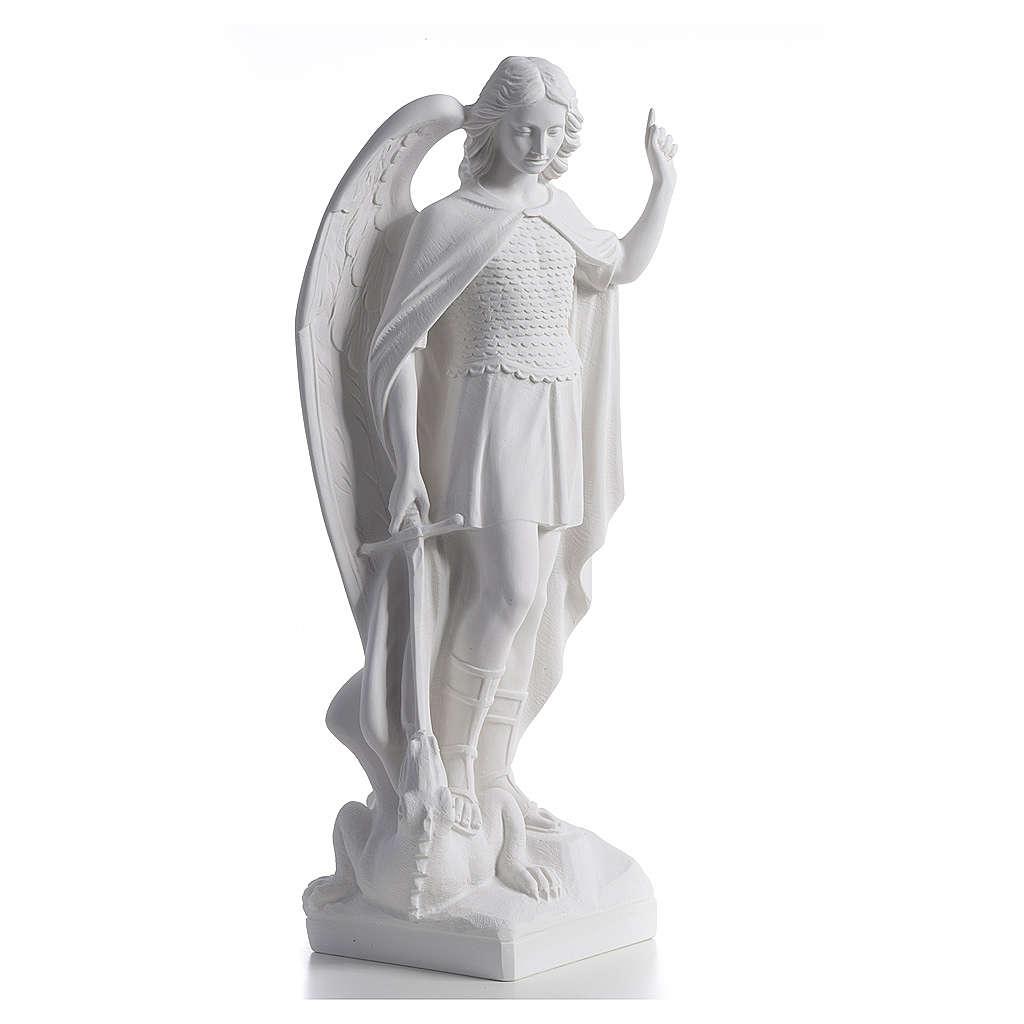 Saint Michel archange marbre etérieur 60 cm 4