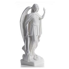 San Michele arcangelo 60 cm marmo bianco s5