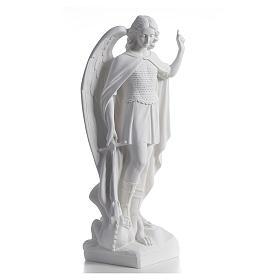 San Michele arcangelo 60 cm marmo bianco s2