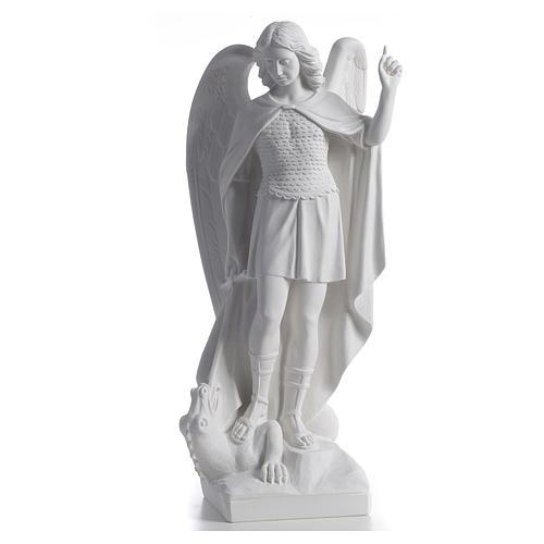 San Michele arcangelo 60 cm marmo bianco 1