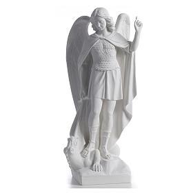 Saint Michael the Archangel statue in composite marble, 60cm s1