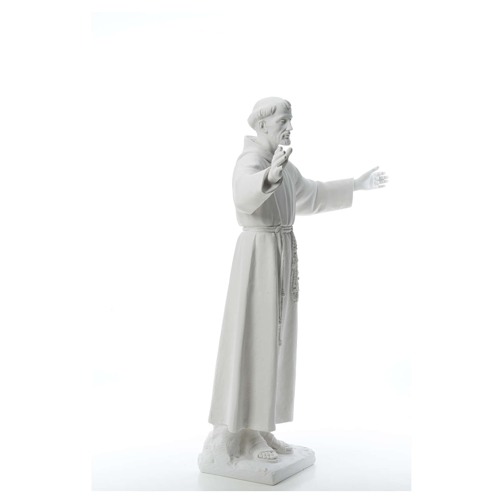 Saint Francis with open arms, 100 cm reconstituted marble statue 4