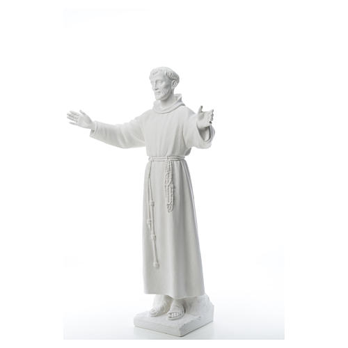 Saint Francis with open arms, 100 cm reconstituted marble statue 6