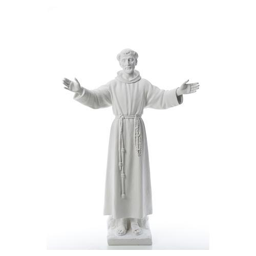 San Francesco braccia aperte 100 cm marmo 5