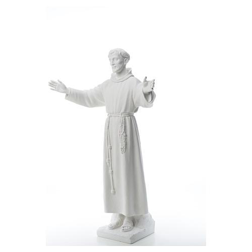 San Francesco braccia aperte 100 cm marmo 6
