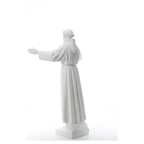 San Francesco braccia aperte 100 cm marmo 7