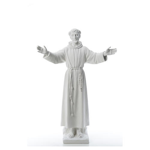 Saint Francis with open arms, 100 cm reconstituted marble statue 5