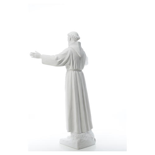 Saint Francis with open arms, 100 cm reconstituted marble statue 7