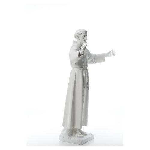 Saint Francis with open arms, 100 cm reconstituted marble statue 8