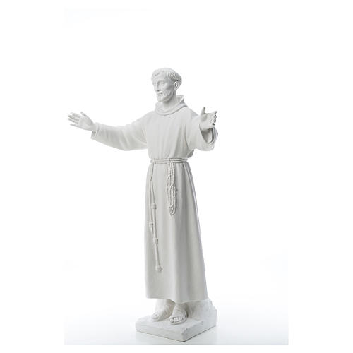 Saint Francis with open arms, 100 cm reconstituted marble statue 2