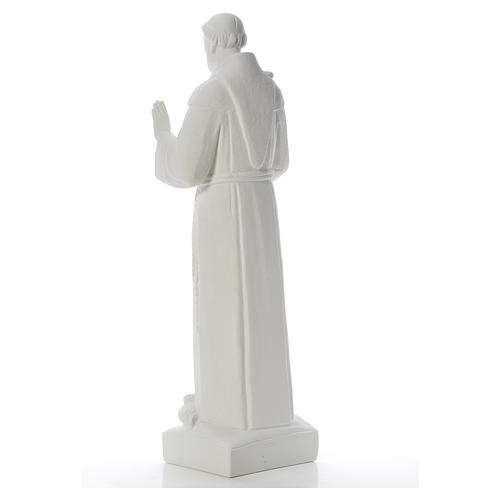 Saint Francis with doves, reconstituted carrara marble statue 75 cm 7
