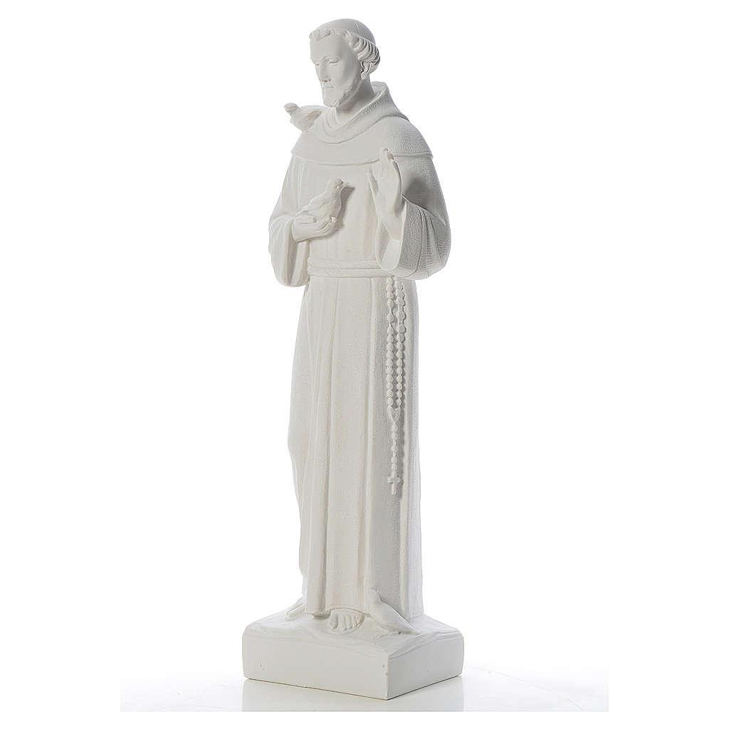 San Francesco con le colombe marmo 75 cm 4