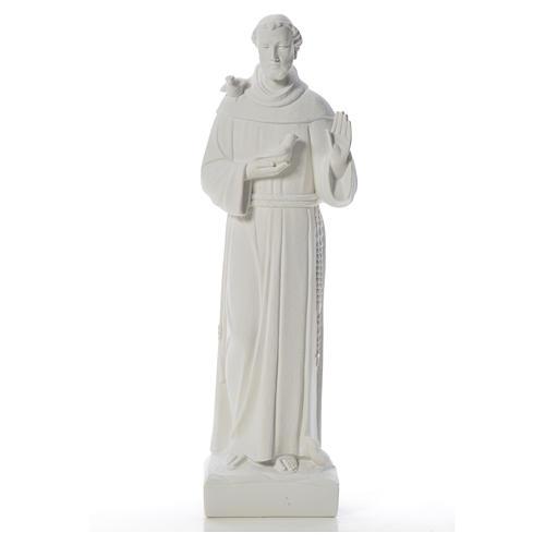 San Francesco con le colombe marmo 75 cm 5