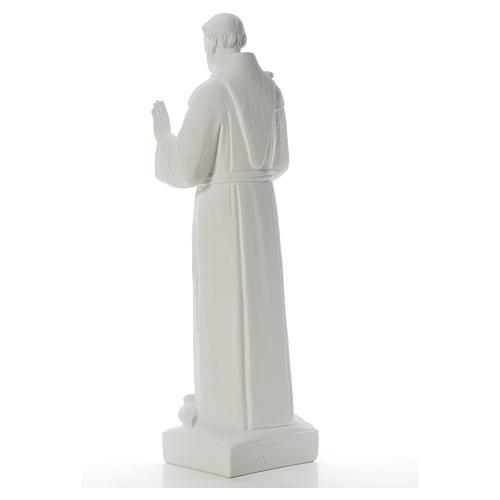 San Francesco con le colombe marmo 75 cm 7
