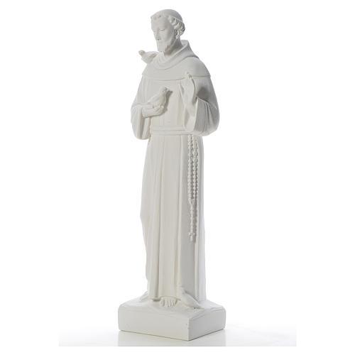 San Francesco con le colombe marmo 75 cm 2