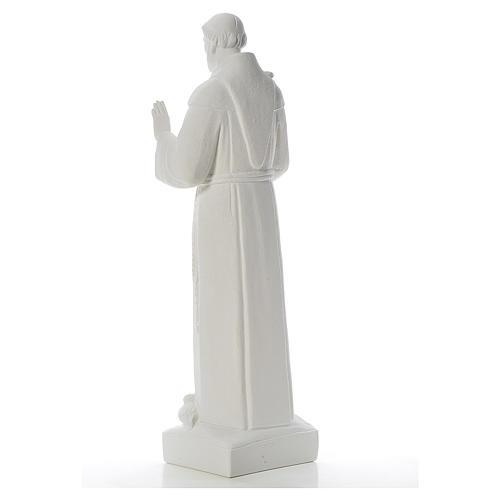 San Francesco con le colombe marmo 75 cm 3