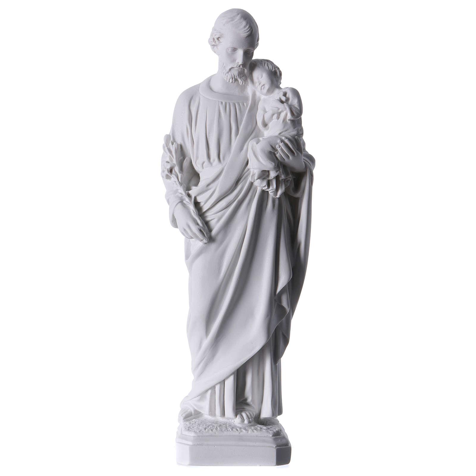 Heiliger Joseph Marmorpulver Statue 30-40 cm 4