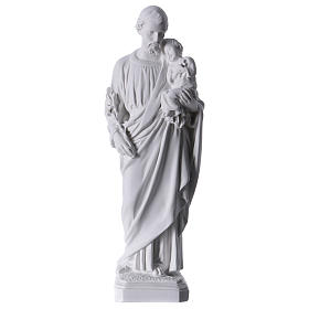 Heiliger Joseph Marmorpulver Statue 30-40 cm s1