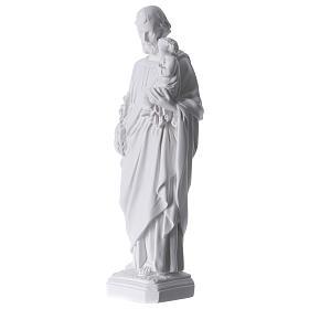 Saint Joseph Statue in Reconstituted Carrara Marble 30-40 cm s3