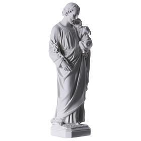 Saint Joseph Statue in Reconstituted Carrara Marble 30-40 cm s4