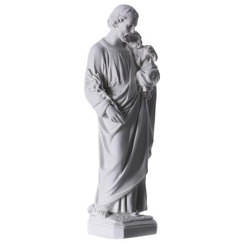 Saint Joseph Statue in Reconstituted Carrara Marble 30-40 cm 4