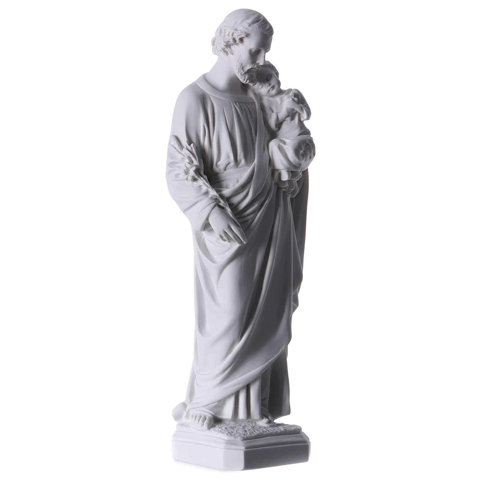 Statue St Joseph marbre pour extérieur 30-40 cm 4
