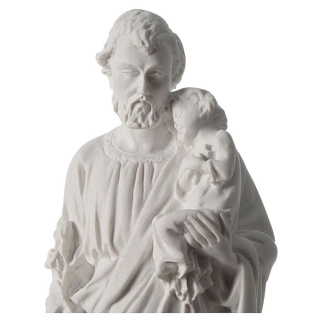Statua San Giuseppe marmo sintetico 30-40 cm 4