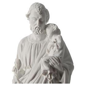 Statua San Giuseppe marmo sintetico 30-40 cm s2