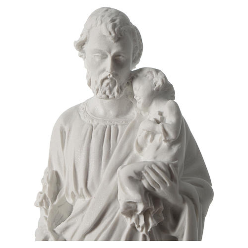 Statua San Giuseppe marmo sintetico 30-40 cm 2