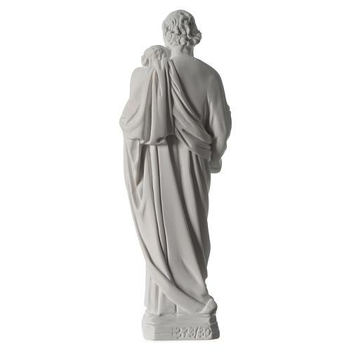 Statua San Giuseppe marmo sintetico 30-40 cm 5