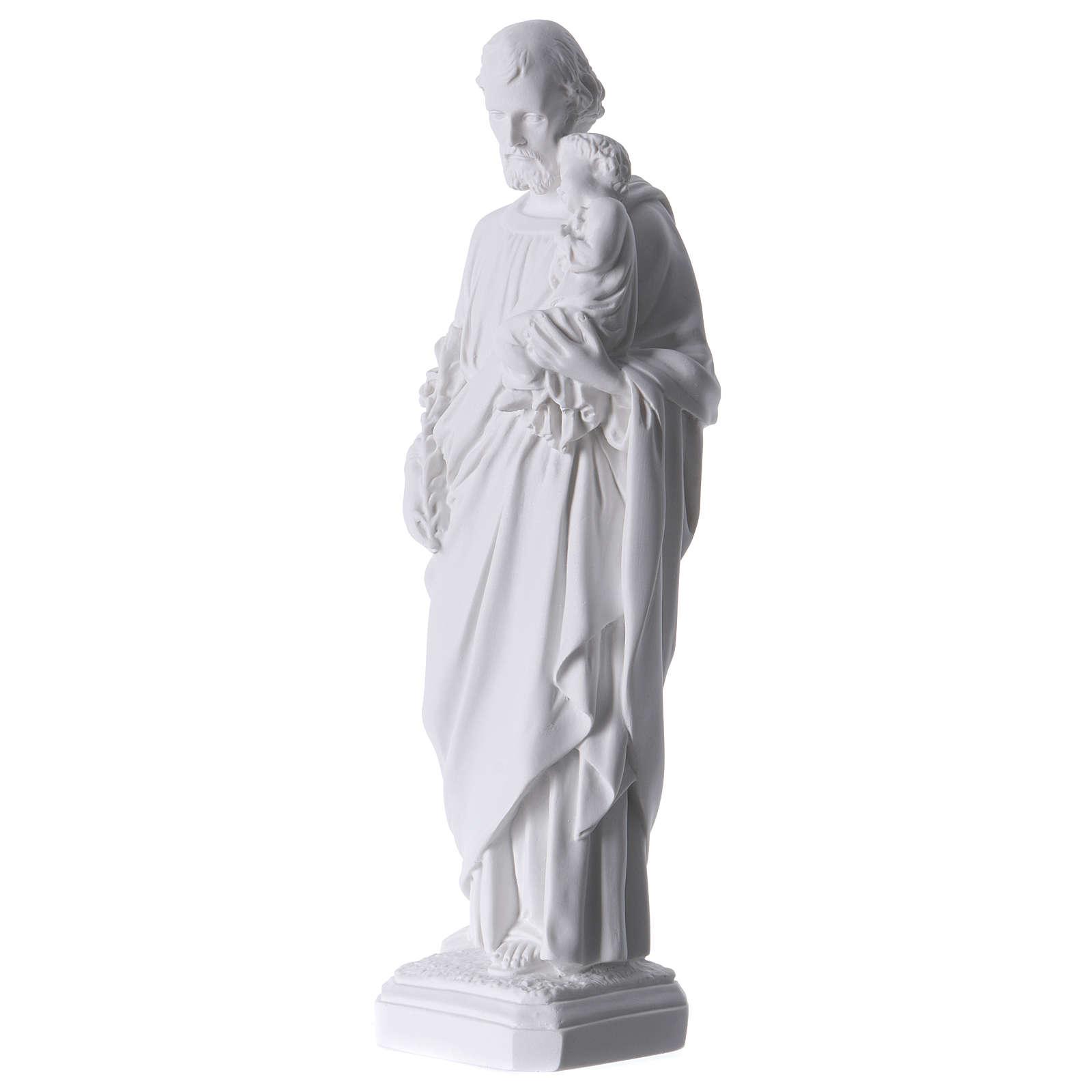 Imagem São José mármore sintético 30-40 cm 4