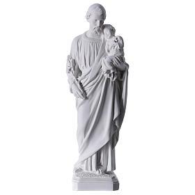 Saint Joseph Statue in Reconstituted Carrara Marble 30-40 cm s1