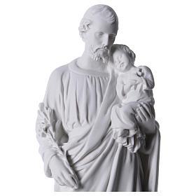 Saint Joseph Statue in Reconstituted Carrara Marble 30-40 cm s2