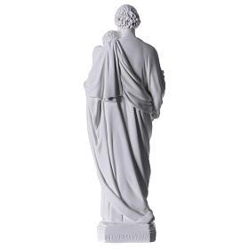 Saint Joseph Statue in Reconstituted Carrara Marble 30-40 cm s5